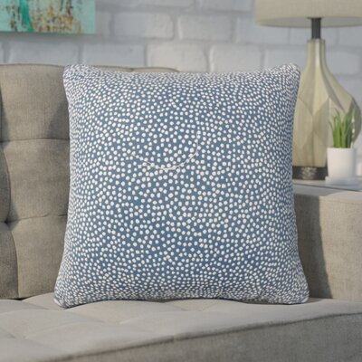 Wilbanks Down Filled Throw Pillow Size: 18 x 18, Color: Navy