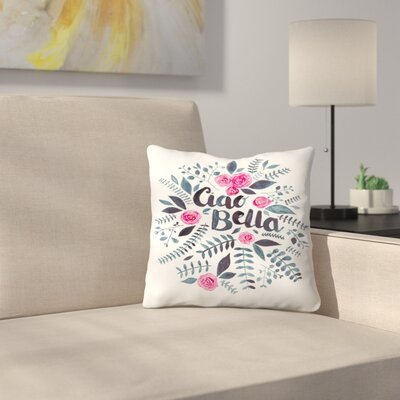 Elena ONeill Ciao Bella Throw Pillow Size: 18 x 18