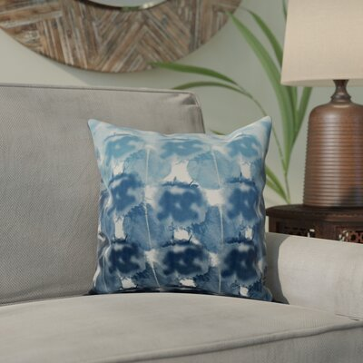 Viet Square Indoor/Outdoor Throw Pillow Size: 16 H x 16 W, Color: Blue