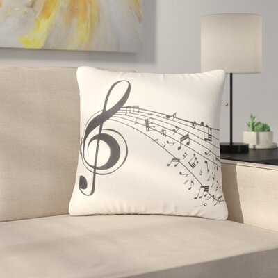 Chouhan Music Treble Clef Throw Pillow