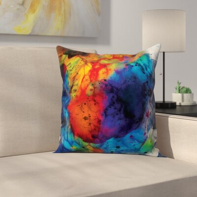 Oreland Watercolor Rainbow Overature Throw Pillow