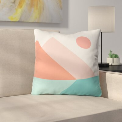 The Old Art Studio Geometric Landscape Throw Pillow Size: 16 x 16