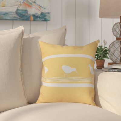 Hancock Birdwalk Animal Print Throw Pillow Size: 18 H x 18 W, Color: Yellow
