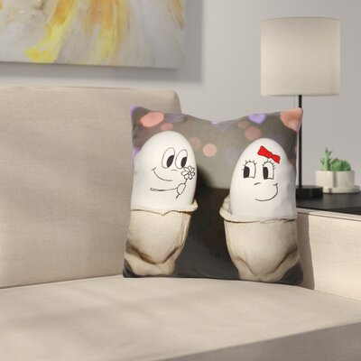 Egg Love Throw Pillow