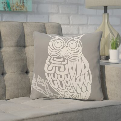 Galvan Animal Outdoor Throw Pillow Color: Grey