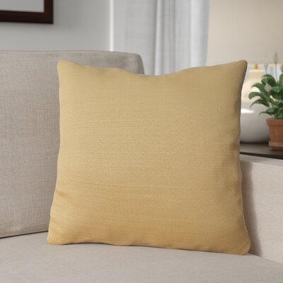 Forestburgh Solid Throw Pillow Color: Gold