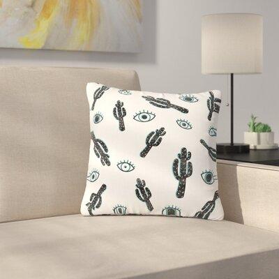 Draper Cact-Eye Digital Outdoor Throw Pillow Size: 18 H x 18 W x 5 D