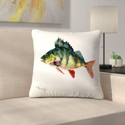 Bass Fish 1 Throw Pillow Size: 20 x 20