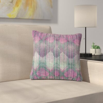 Vintage Ikat Throw Pillow Size: 26 H x 26 W x 7 D, Color: Pink