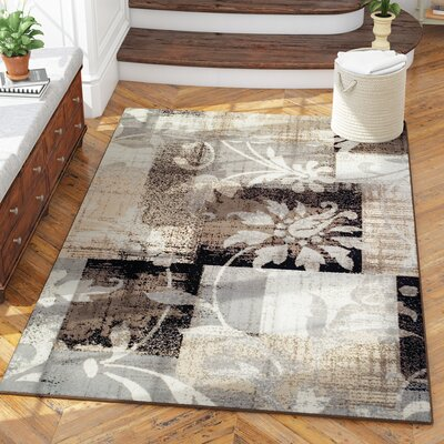 Yadira Brown/Gray Area Rug Rug Size: Rectangle 5 x 8
