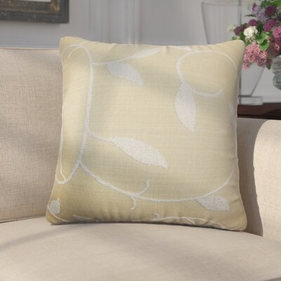 Ettore Floral Cotton Throw Pillow Color: Wheat