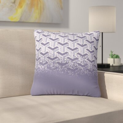 Just L No Yard Urban Outdoor Throw Pillow Color: Purple, Size: 16 H x 16 W x 5 D