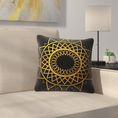 Matt Eklund Gilded Sundial Outdoor Throw Pillow Size: 18