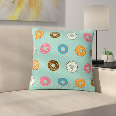 Juan Paolo Doughnut Brigade Food Outdoor Throw Pillow Size: 18 H x 18 W x 5 D