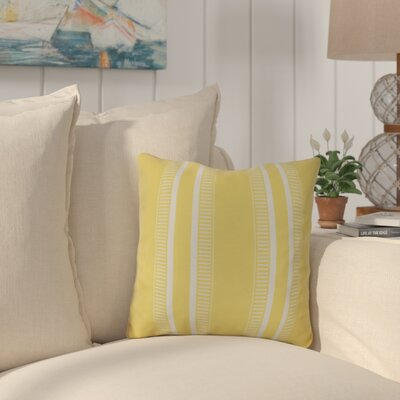 Mundell Outdoor Throw Pillow Size: 18 H x 18 W x 3 D, Color: Yellow