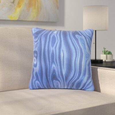 Strachan Geometric Cotton Throw Pillow Color: Blue