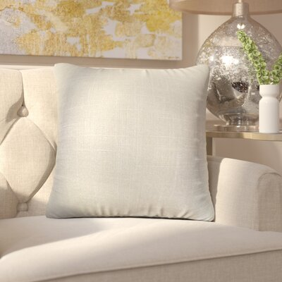 Alivia Solid Linen Throw Pillow Color: Platinum