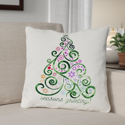 Bouffard Seasons Greetings Throw Pillow Size: 18 x 18
