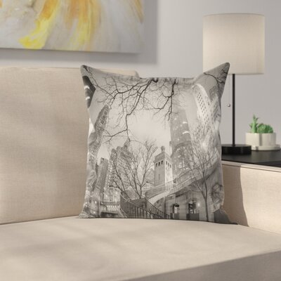 Chicago City Square Pillow Cover Size: 16 x 16