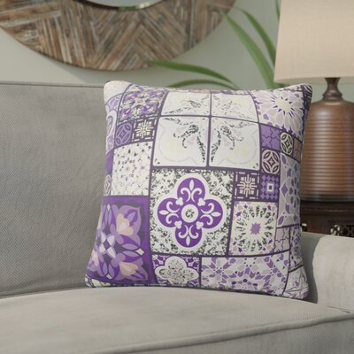 Chrisman Tile Throw Pillow Color: Purple/Gold/Gray/Pink, Size: 24 x 24