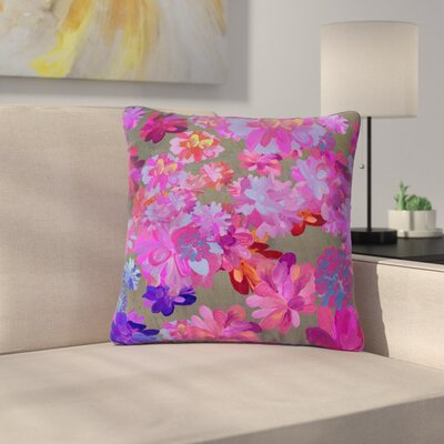 Marianna Tankelevich Flowers Outdoor Throw Pillow Size: 18 H x 18 W x 5 D