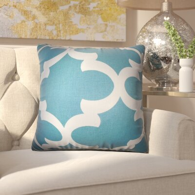Chitwood Geometric Cotton Throw Pillow Color: Sky Blue