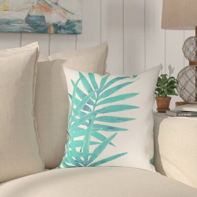 Eleni Leaves I Outdoor Throw Pillow Size: 18 x 18