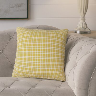 Schiers Plaid Down Filled 100% Cotton Throw Pillow Size: 18