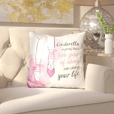 Leo Cinderella Shoes Throw Pillow