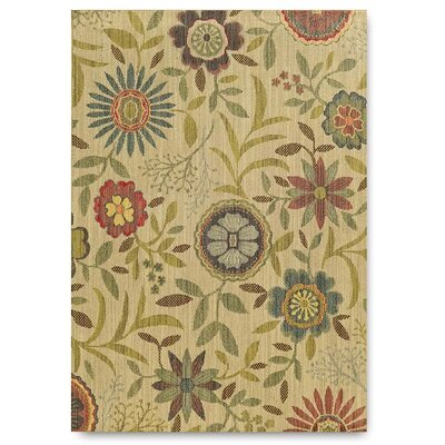 Cabana Tommy Bahama Floral Beige/Green Indoor/Outdoor Area Rug