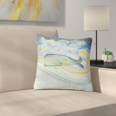 Jennifer Rizzo Swimming with the Stars Illustration Animals Outdoor Throw Pillow Size: 16 H x 16 W x 5 D