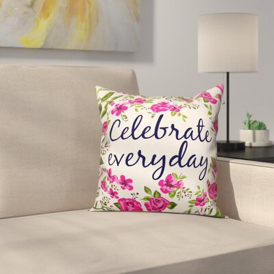 Tilton Celebrate Everyday Floral Throw Pillow Color: White, Size: 20 x 20, Type: Pillow Cover