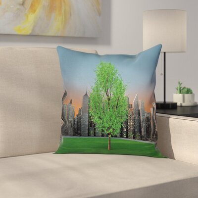 Forest Square Pillow Cover Size: 18 x 18