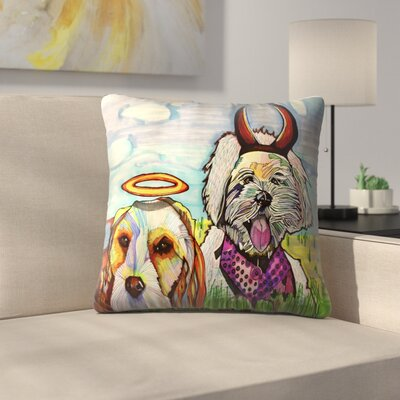 Angelina & Satana Throw Pillow Size: 18 x 18