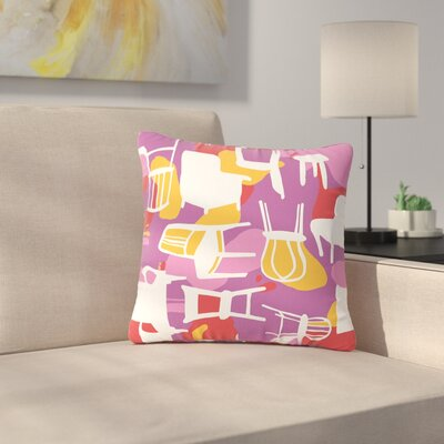 Luvprintz Chairs Outdoor Throw Pillow Size: 16 H x 16 W x 5 D