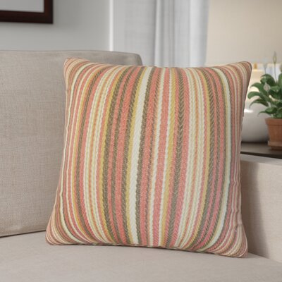 Zelin Stripes Throw Pillow Color: Flame