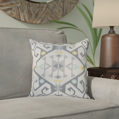 Meetinghouse Jodhpur Medallion 2 Geometric Print Throw Pillow Size: 18 H x 18 W, Color: Gray