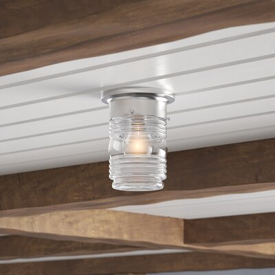 Woolery 1-Light Flush Mount Base Color: Satin Nickel
