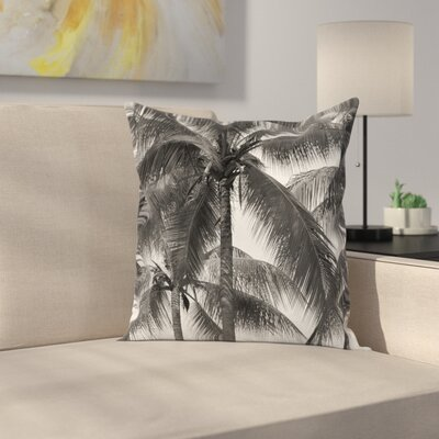 Coconut Palms Tropical Square Pillow Cover Size: 18 x 18