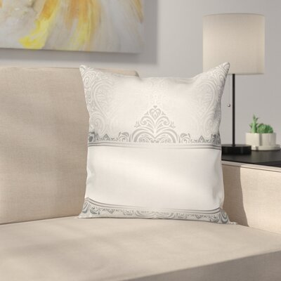 Rich Flowers Square Cushion Pillow Cover Size: 18 x 18