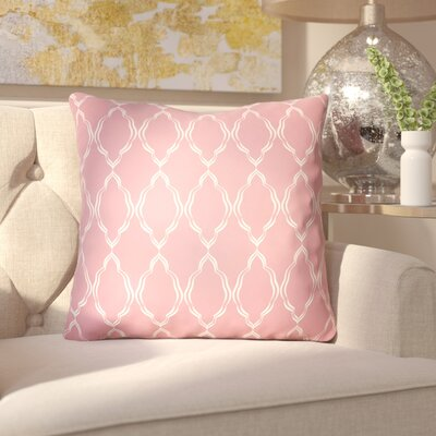 Bonaway Indoor/Outdoor Throw Pillow Size: 18 H x 18 W x 3.5 D, Color: Pink
