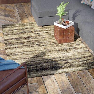Zhora Khaki Area Rug Rug Size: Rectangle 53 x 77