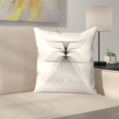 Linear Flower Throw Pillow Size: 14 x 14