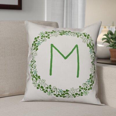 Velazquez Clover Monogram Throw Pillow