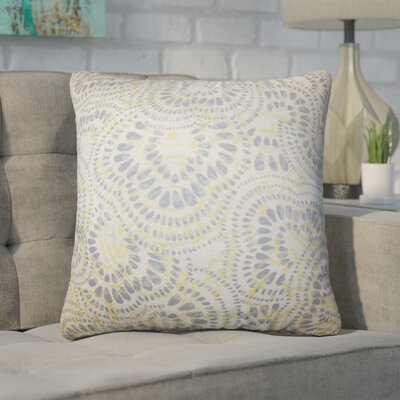 Winburn Floral Cotton Throw Pillow Color: Jonquil