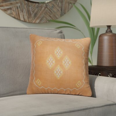 Stellan Accent Throw Pillow Color: Orange, Size: 16 x 16