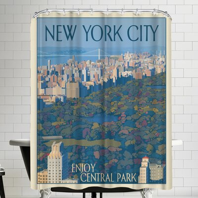 New York Enjoy Central Park Shower Curtain