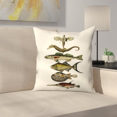 Sixfish Throw Pillow Size: 14 x 14