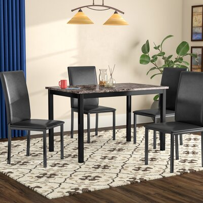 Noyes Dining Set Chair Color: Black