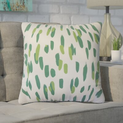 Wigfall Down Filled 100% Cotton Throw Pillow Size: 22 x 22, Color: Palm